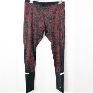 Champion Red & Black Grid Duo Dry Leggings L
